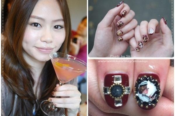 【光療】酒紅鉚釘巴黎小香風