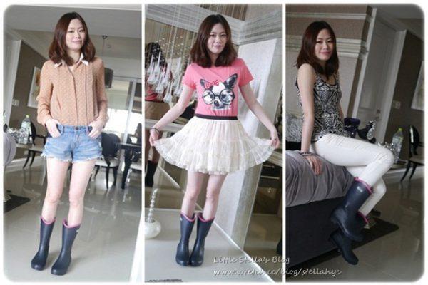 【邀約+戰利品】日本來的Rubb俏麗可摺疊雨鞋,3套穿搭分享