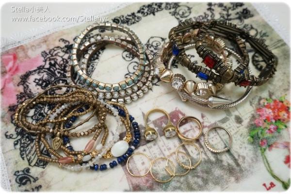 【分享】最近愛戴的飾品們-手環、戒指篇