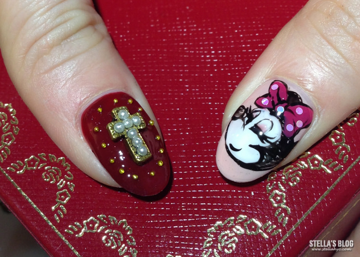 【光療】久違的光療指甲,秋冬復古的千鳥紋x嫵媚米妮