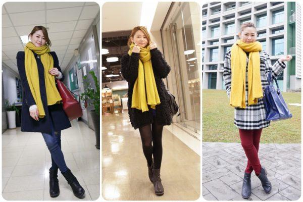 【私服】最愛的芥黃圍巾x3套私服