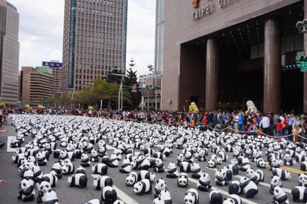 【日穿搭】跟著1600隻紙貓熊環遊世界吧,Panda經典黑白配