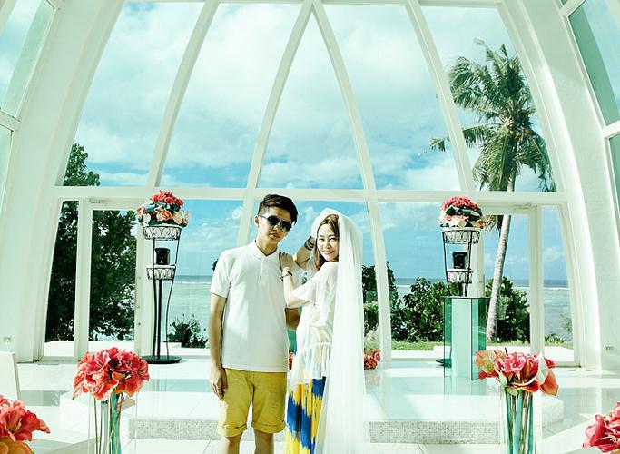 【關島】World Bridal夢幻婚禮彩虹教堂-S.T Laguna Chapel海之教堂
