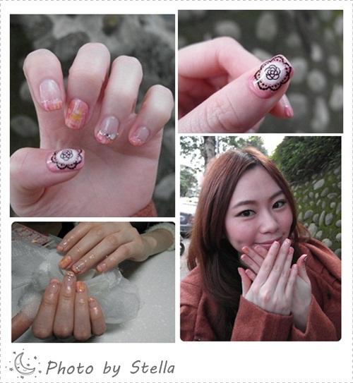 ♥Nail♥粉紅毛呢光療,好有氣質超可愛~