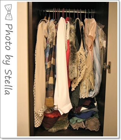 ♥收納♥Stella的衣櫥收納大公開,衣服多到要爆出來XDD
