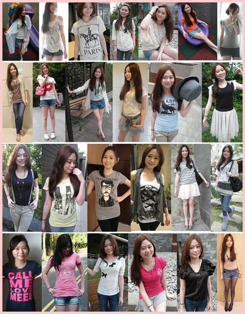 ♥穿搭♥夏天就是要穿t-shirt!我衣櫥裡的的25件t-shirt分享