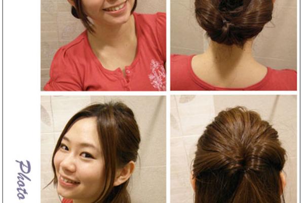 ♥Hair♥兩款氣質髮型1分鐘搞定,手殘女絕對也學的起來