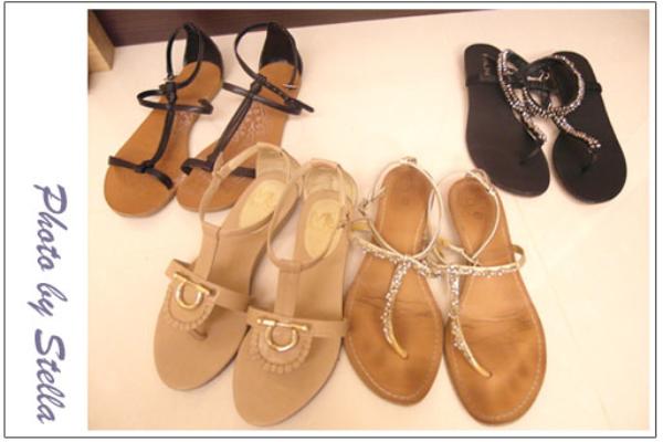 ♥穿搭♥夏天就是要穿平底涼鞋x4雙分享