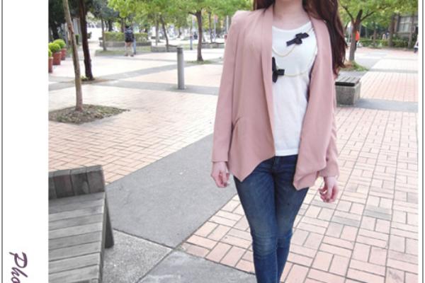 ♥穿搭♥我在韓貨Vanilla Star找到超顯瘦窄管褲&粉色外套