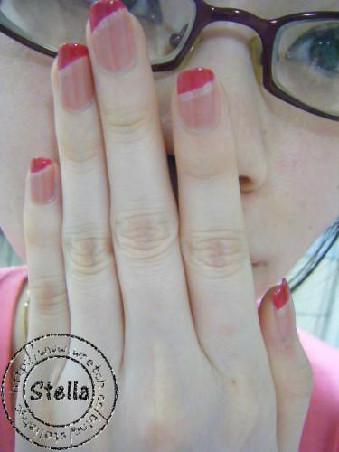 ♥指甲彩繪♥粉紅甜心也愛運動風