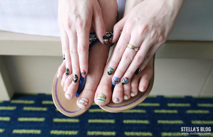 【分享】夏威夷度假系光療指甲+質感亞麻綠淺咖髮色