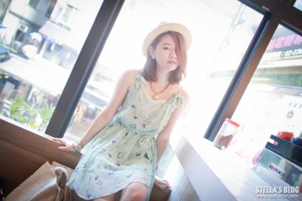 【日私服】嫩綠幸福彩繪鳥兒小洋裝,清爽的度假look