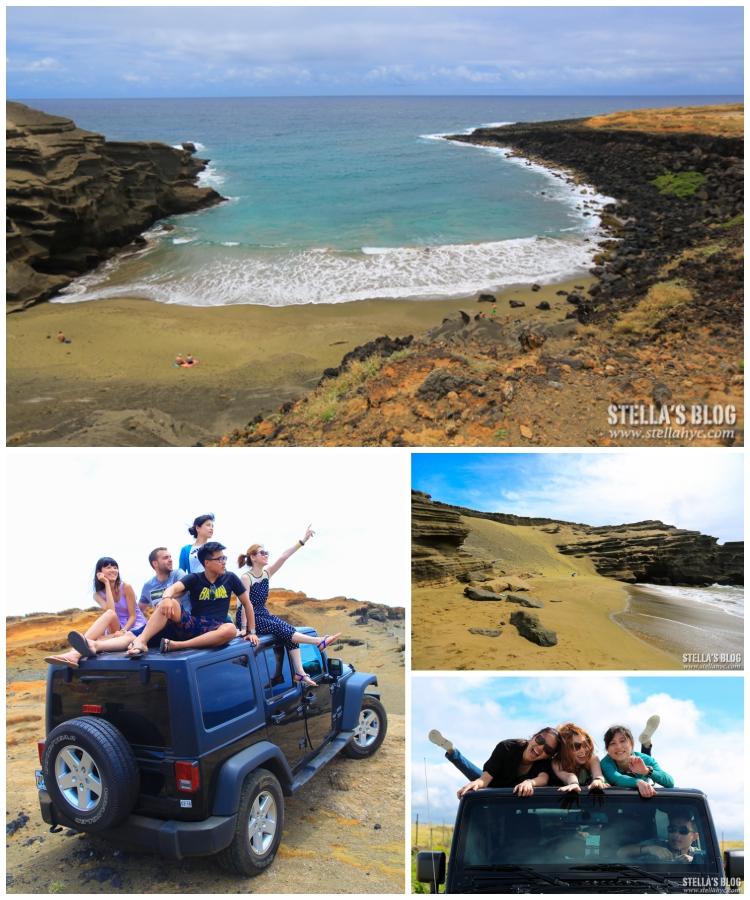 【夏威夷-大島】坐上吉普車,馳騁於黃沙草堆中,前往世上唯一的綠沙灘吧!!