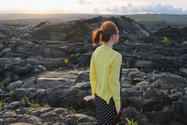 【夏威夷-大島南部】驚嘆大自然力量的Kalapana Lava Road岩漿路、Black Sands Beach黑沙灘