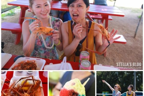 【夏威夷-歐胡島】食。回台念念不忘超級好吃的Romy's奶油蒜蝦&Matsumot繽紛彩虹冰