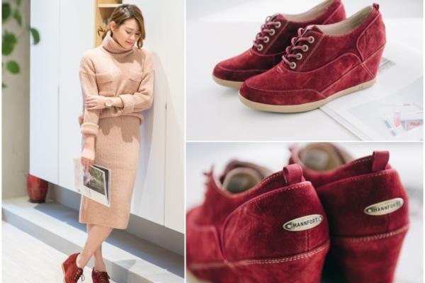 【鞋】時尚小心機。HANNFORT SKY WALK內增高舒適輕量休閒鞋x3套穿搭