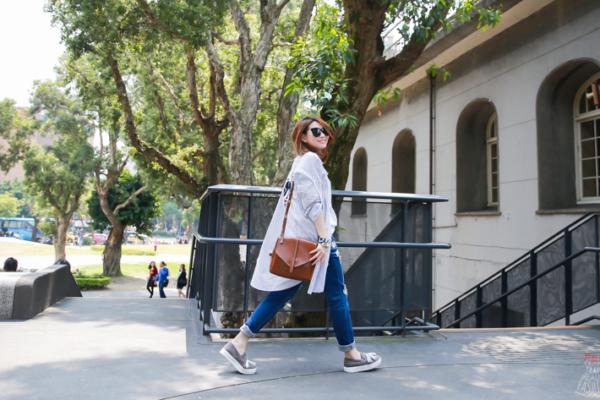【穿搭】每款都想包色的韓貨Melody in Wonderland早春休閒風格(有最美的Pantone寧靜藍風衣)
