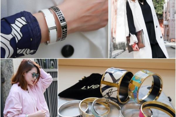 【配件】可穿戴的藝術品:LVG(Legend Vogue)珐瑯手環,重複搭配小秘訣分享