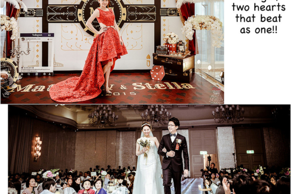 【婚紗】婚禮上詢問度超高,參與設計的2套Stella訂製婚紗:夢幻魚尾白紗&俏皮前短後長紅禮服