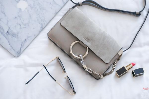 【開箱】街拍超夯IT小包:Chloé Faye Small Shoulder Bag Motty Grey(Chloe包)