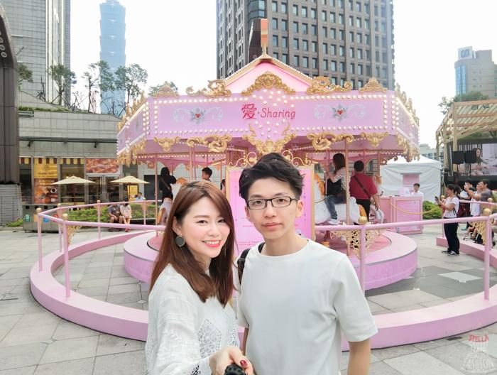 【聖誕特輯】超夢幻好拍照!最法國的粉色旋轉木馬在台北~愛•Sharing 2016 X'mas