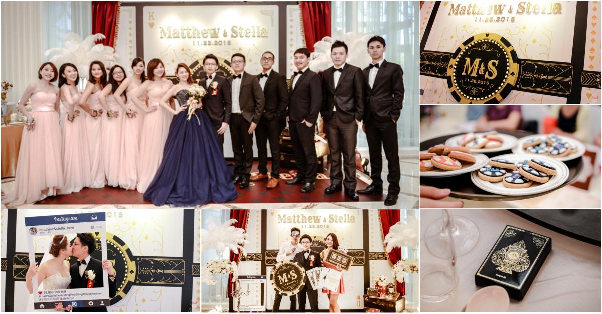【婚禮主題佈置】Casino Wedding,我的華麗賭城風婚禮