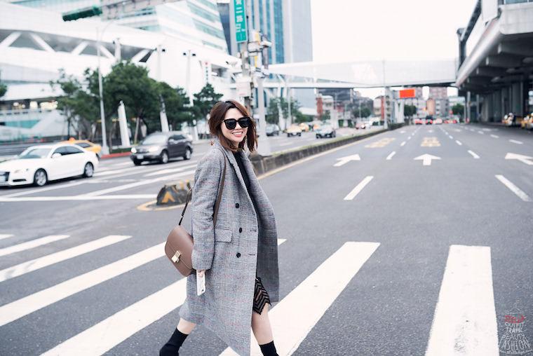 【穿搭】韓貨艾蜜十一月號,超顯瘦格紋大衣、針織衫都在這,好燒啊!