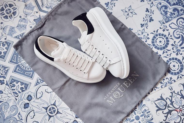 【開箱】Alexander McQueen sneaker厚底小白鞋,街拍明星愛穿,超好搭必備!