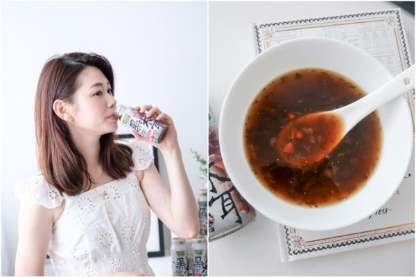【飲品】歐典生機黑木耳飲,低熱量終結腹黑,跟一肚子黑水說掰掰