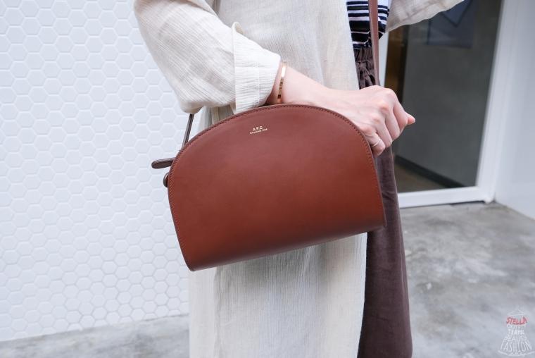 【開箱】法國女孩都在揹的A.P.C.半月包,時尚簡約超好搭!