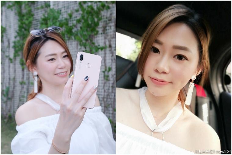 【3C】小資女的超美粉色自拍機,華為HUAWEI nova 3e裸顏姬,不用萬元唷!