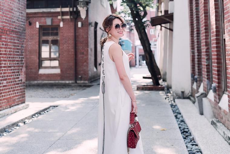 【日穿搭】夏日輕優雅度假~CHLOE CHEN白色長洋裝