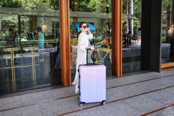 【行李箱】超夢幻漸層Flexflow測重旅行箱,海外購物旅行必備,再也不怕行李超重被罰錢了