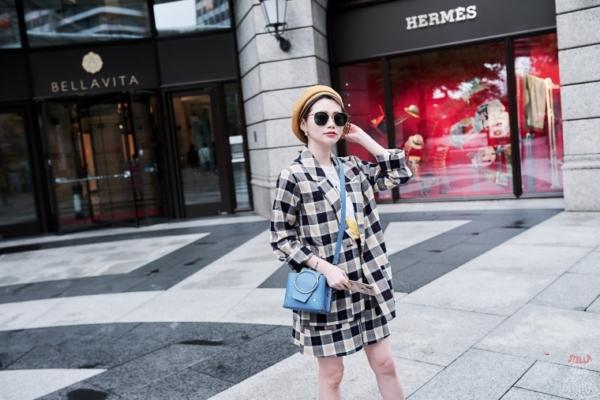 【日穿搭】格紋套裝也能穿出優雅女孩感~