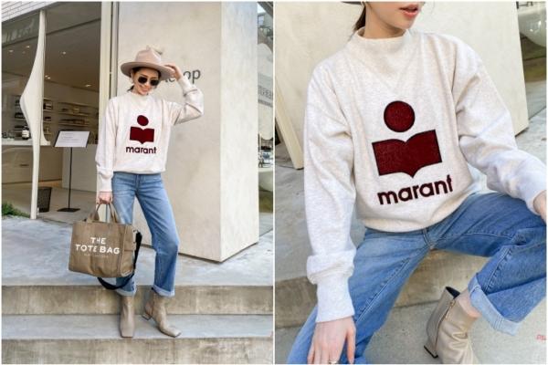 【秋季戰利品穿搭】Isabel Marant Étoile Logo衛衣+Marc Jacobs托特包