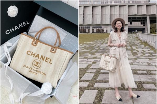 【包包開箱】默默紅翻天超熱賣的Chanel Tote Bag香奈兒帆布托特包,輕盈容量大,值得入手!