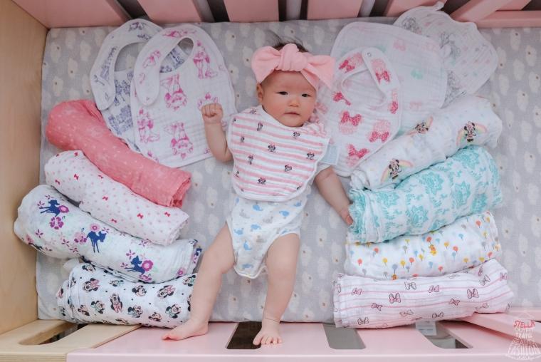 【已團購】美國aden+anais迪士尼系列紗布包巾、毯子、圍兜,英國皇室名人愛用,新生兒夢幻逸品!