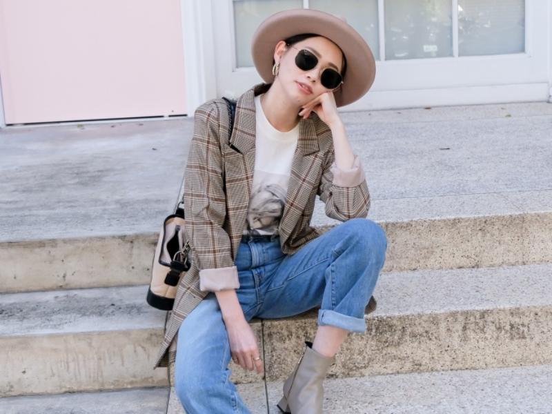 【穿搭】秋季新戰利品:Yuul Yie短靴+Slvrlake London直筒褲+Lioness格紋西外+Anine Bing短T