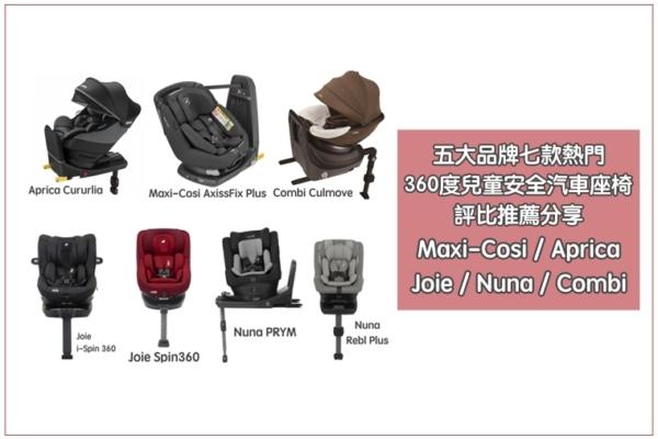 【2020汽座推薦比較】五大品牌七款熱門360度兒童安全座椅評比分享:Maxi-Cosi/Nuna/Joie/Aprica/Combi