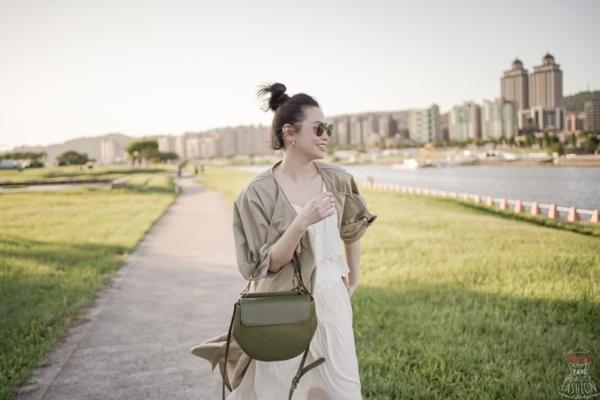 【穿搭】趁著好天氣,揹在Mirta買的新包Pierotucci Malala Bag到河濱公園散步去(8折折扣碼)