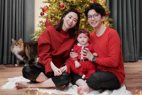 【親子家庭寫真】叮叮噹Merry X'mas~第一個聖誕節全家福寫真來了!